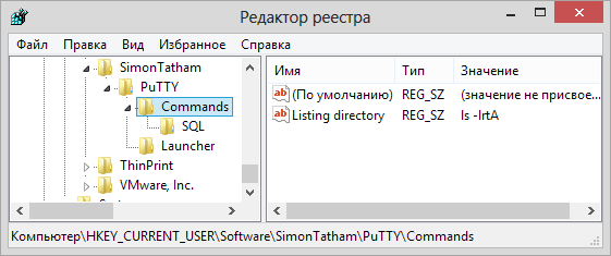 Настройка горячих клавиш PuTTY SSH