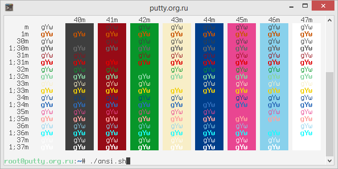Github PuTTY Color Scheme