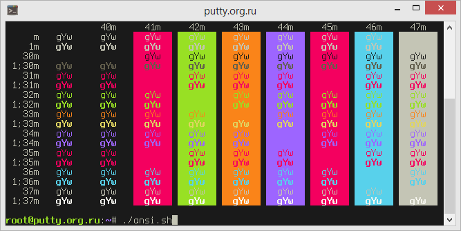 Monokai Soda PuTTY Color Scheme