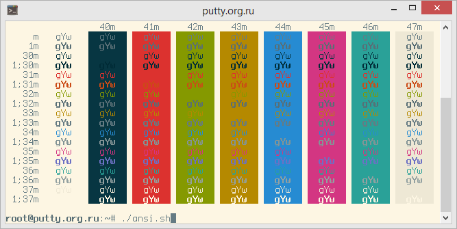 Solarized Light PuTTY Color Scheme