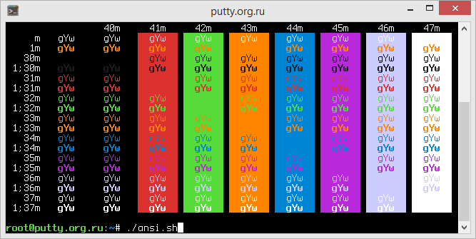 Symfonic PuTTY Color Scheme