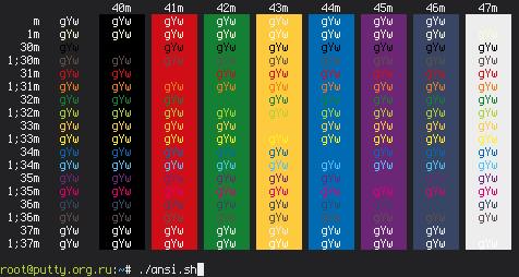 Цветовая схема Highway для
