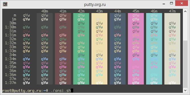 Zenburn PuTTY Color Scheme